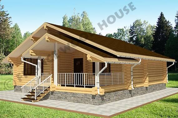 Одноэтажный дом с широкими окнами