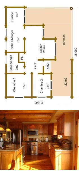 plan de maison girolle