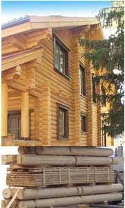 maison en bois rondins madriers